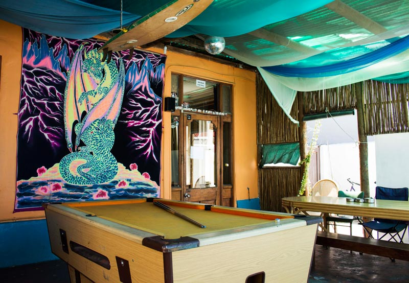 Big Blue Backpackers Pool Table