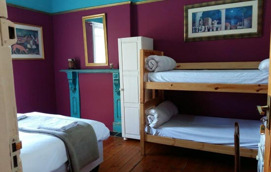 Big blue backpackers cape town double bunk accommodation
