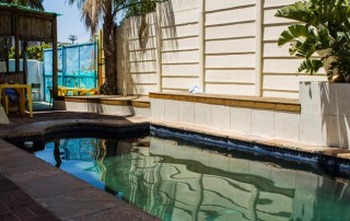 Big blue backpackers swimming pool